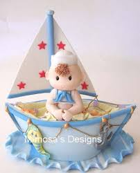 sailboat cake topper sailboat centerpiece favors babies birthday number 1