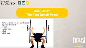 one set of the flat bench press youtube