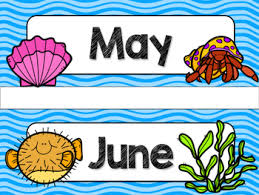 Classroom Theme Decor Ocean Theme Classroom Decor Calendar Headers By Suzy Palmer Tpt