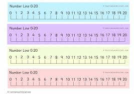 printable numbers lines free printable number line to 20 printable pages