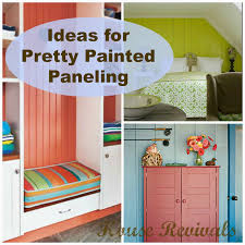 decoration colorful how to paint wood paneling for home