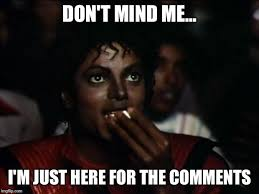 Meme Photo Comments - michael jackson popcorn meme imgflip
