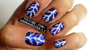 electric lightning nail art youtube