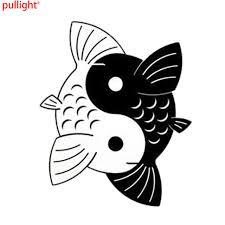 12 4 15 2cm yin yang koi fish creative car stickers