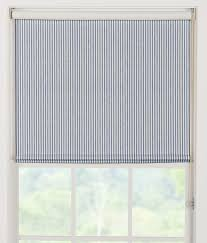 insulated ticking stripes clutch roller shade country curtains