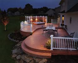deck lighting makes the home look more vibrant u2013 home interior