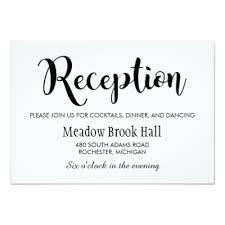 wedding reception card reception card black chalkboard charm zazzle
