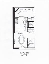 Lovely Simple Kitchen Plan Home Design - Simple kitchen floor plans
