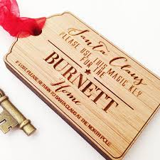 santa key santa key personalised christmas decorations finlee and me