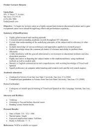 sample of resume for teacher post resignation letter from