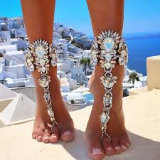 barefoot sandals for wedding fashion 2017 ankle bracelet wedding barefoot sandals foot