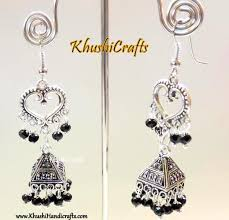 Buy Tribal German Silver Jhumka Products U2013 Khushi Handicrafts