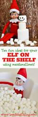 elf on the shelf ideas using marshmallows