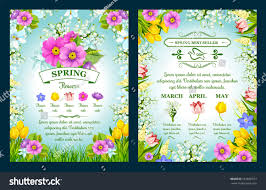 spring posters springtime flowers march april stock vector