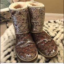 do womens ugg boots run big 61 ugg shoes ugg sparkle boots sequin champagne womens size