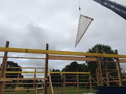 Setting Pole Barn Posts Custom Built Pole Barns Deep South Buildings