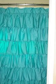 Turquoise Ruffle Curtains Diy Ruffled Bath Curtain Crafty Mom Of Girls