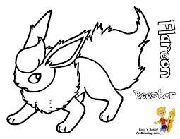 download pokemon coloring pages flareon
