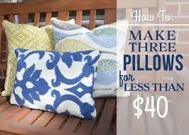 Blue Outdoor Cushions Diy Outdoor Pillows No Sewing Required Bubbly Design Co