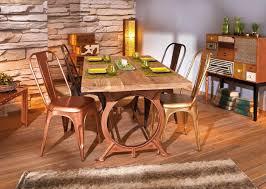 Esszimmer Tisch Vintage Esstisch O Tone Platte Aus Akazienholz