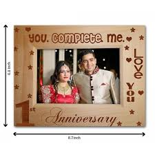 1st anniversary gift anniversary gift wooden photo frame