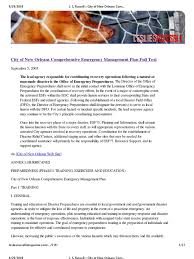 best oil ls emergency preparedness city of new orleans comprehensive emergency management plan