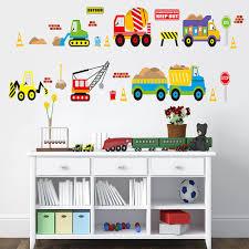 truck crane digger wall sticker for kids boys room wall decals wall sticker for kids