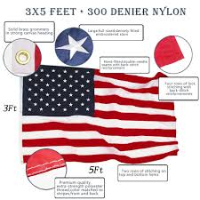 Ripped American Flag Amazon Com Anley Heavy Duty American Us Flag 3x5 Foot Nylon
