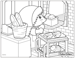 Calico Critters Cooking Croissant Bread Coloring Pages Printable Bread Coloring Page