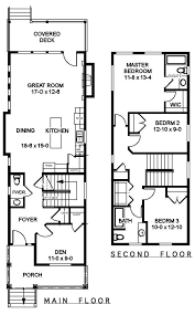 Two Story Rectangular House Plans The 25 Best Narrow House Plans Ideas On Pinterest Small Open