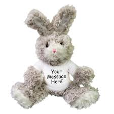 personalized easter bunnies personalized stuffed fuzzy easter bunny rabbit plush