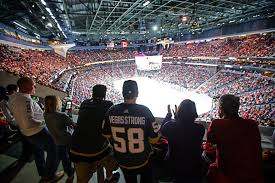 free standing room fans standing room section includes free beers for golden knights fans