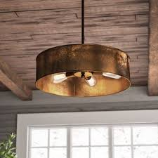 Drum Light Pendant Drum Pendants You Ll Wayfair
