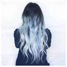 light blue hair dye light blue hair color silver dark root pastel ombre curly