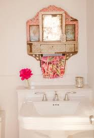 kitchen towel holder ideas bathroom shabby chic style with white