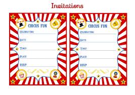 carnival themed invitations templates free circus birthday