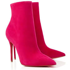 christian louboutin so kate 100mm suede ankle boots pinky