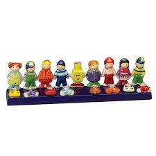 rite lite chanukah candles rite lite 12 painted chanukah friends childrens ceramic