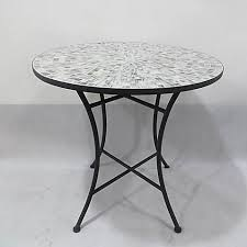 Grey Bistro Table Mosaic Tile Bistro Table In Grey Bed Bath Beyond