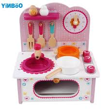 aliexpress com buy baby toys kid cooking set wooden kitchen toy