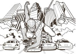 spiderman printable colouring pages funycoloring
