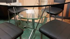 Glass Dining Table And 4 Chairs by Round Glass Dining Table And Chairs Sale