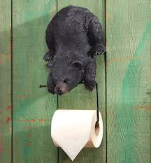 Black Bear Bathroom Accessories by Enchanting Bear Toilet Paper Holder Creative Decoration Black Bear