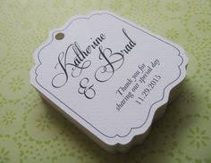 wedding gift tags wedding favor tags party favor tags thank you by sweetiepeonies