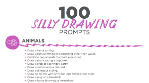 100 silly drawing prompts to engage your students the art of ed