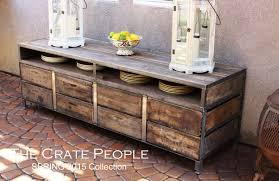 the henry 8 drawer buffet table or tv console vintage wood
