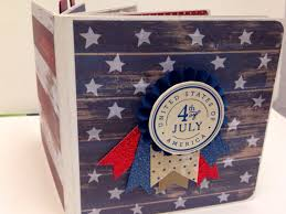 5x5 Photo Album 4th Of July Scrapbook Premade Pages Chipboard Board Book Photo