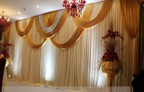 wedding backdrop gold 3m 6m white and gold shiny wedding backdrop wih beautiful swags