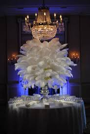 chandelier feather table centerpieces ostrich feather wedding