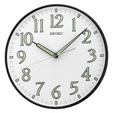 seiko glow in the dark qxa435slh 10 25 in wall clock hayneedle